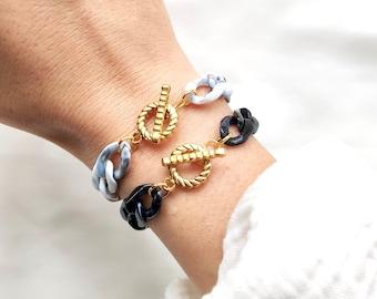 VINTAGE mini bracelet // Acrylic link chain