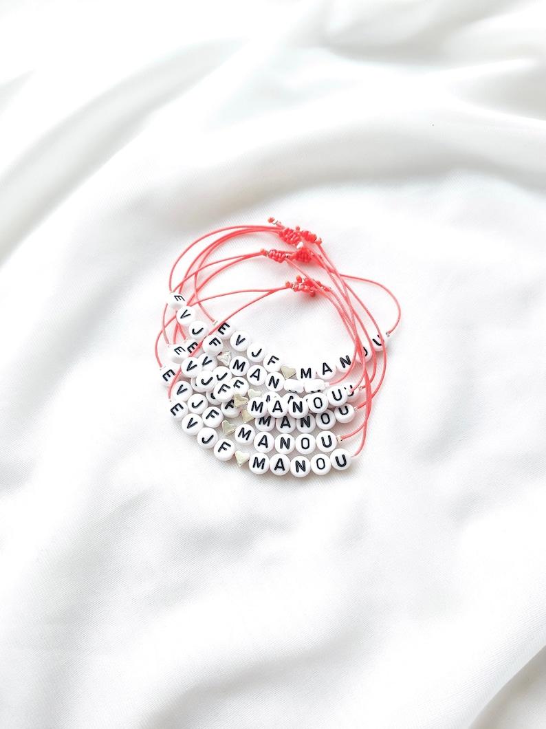 Bracelet MANTRA en perles à personnaliser // Perles blanches image 0