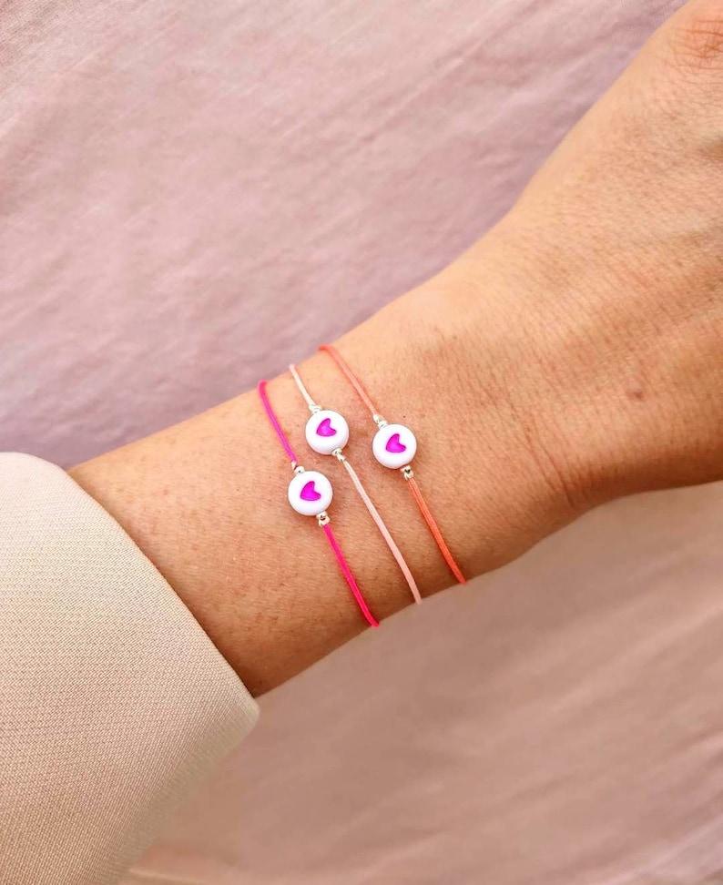 Bracelet MANTRA  Octobre Rose // Un bracelet  Un don pour image 1