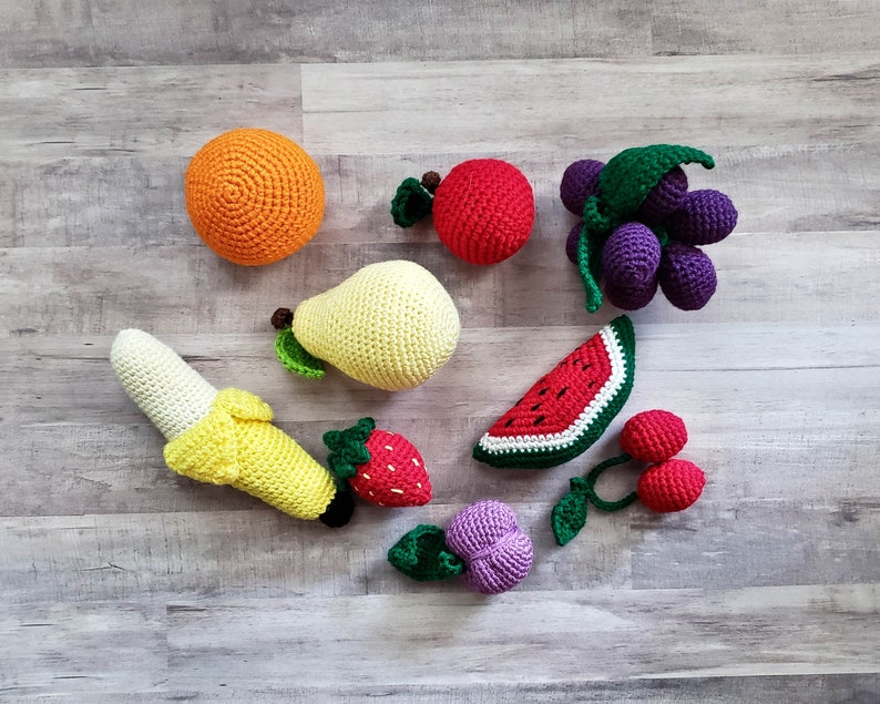 Pretend Food Play Food Pick any 10 Fruits and Veggies