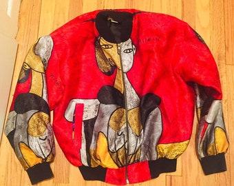 d32708e7f Bomber jacket baroque | Etsy