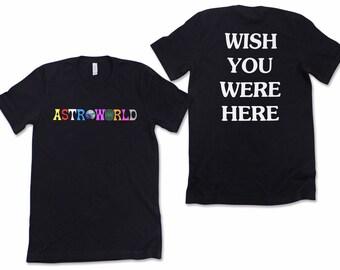 8169712d0344 Astroworld (FRONT&BACK) travis scott Short-Sleeve Unisex T-Shirt