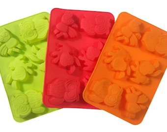 pack Of 2 Rabbit Jelly Mould Great For Ice Cream And Jelly !