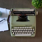 Lovely Seafoam Green Vintage Typewriter | 1959 Smith Corona Sterling | Working Condition | Cleaned, Serviced, Tested