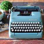 Superb Vintage Typewriter! 1956 Smith Corona Silent-Super | Alpine Blue | Excellent Condition | Works great | Serviced, Cleaned, Tested