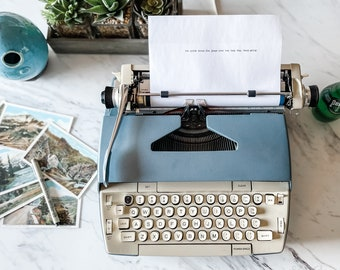1960s Electra 110, Blue | Excellent Typewriter | Serviced, Cleaned, Tested, New Ribbon | Demo & Tutorial Videos | Awesome for college!