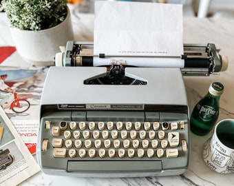 1960s Smith Corona Coronet Auto 12 | Serviced, Cleaned, Tested, New Ribbon | Original Color | Working Typewriter | Demo & Tutorial Video