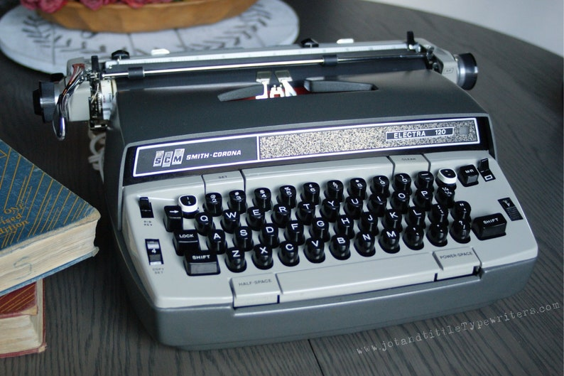 1970s Electric Vintage Typewriter  Smith Corona Electra 120 image 0