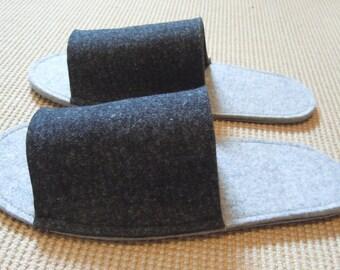 Felt PUSCHÈN gr 39 Slippers 100% wool light/dark