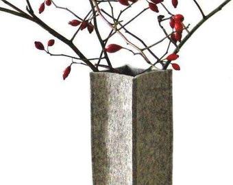 """Felt Vase Utensilo """"cube""""/ Eco+Design"""