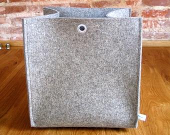 "Big box ""Export""/basket from wool felt HBT33x33x38"