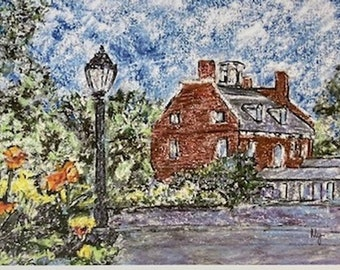 the Warner House note card