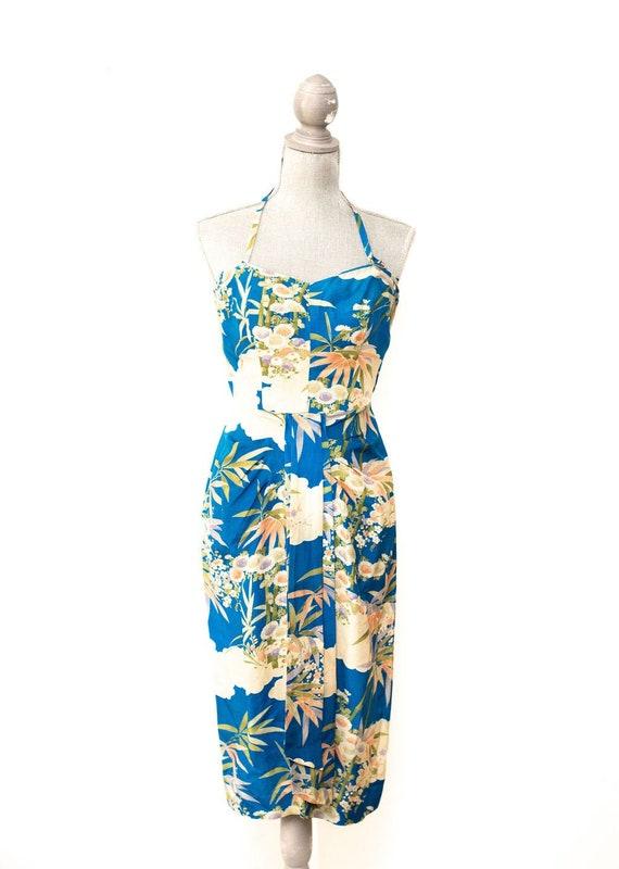 Vintage 1940's Watumull Sarong Dress Made in Hawai