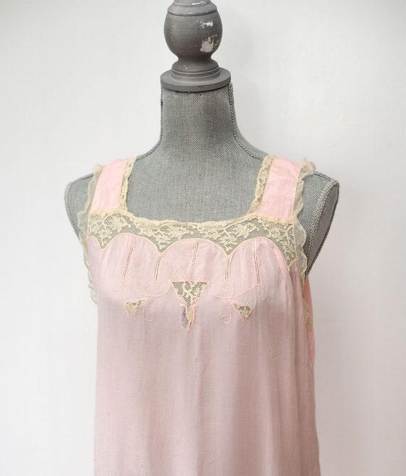 Vintage 1920's  1930's Silk Slip Nightgown Lingeri