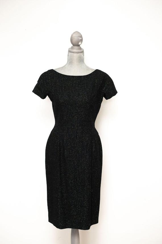 Vintage 1950s Rainbow Fleck Wiggle Dress
