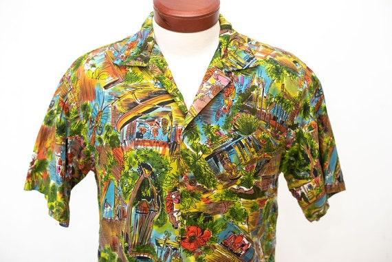 Vintage 1950's 1960's Hawaiian Shirt Diamondhead S