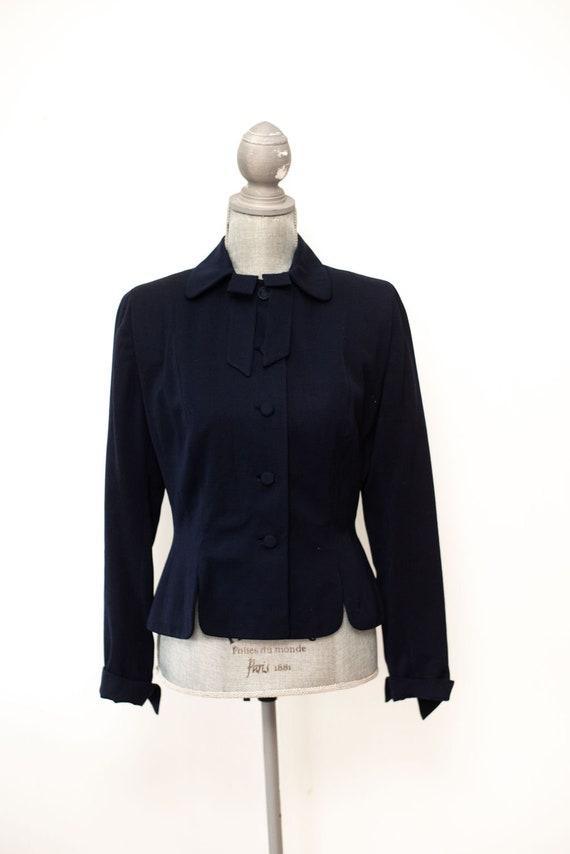 Vintage 1940's Eisenberg Turf Club Blue Blazer Sui