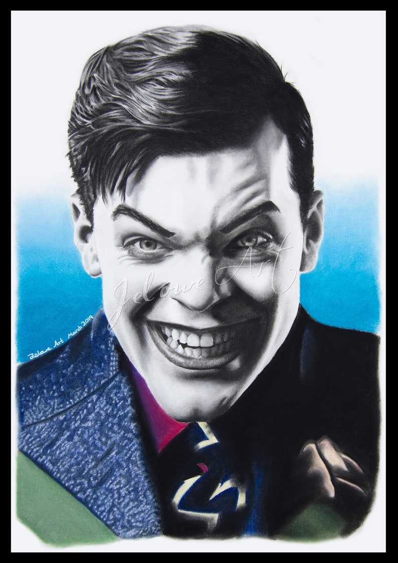 Cameron Monaghan as Jeremiah Valeska from Gotham fan art by Jelowe Art