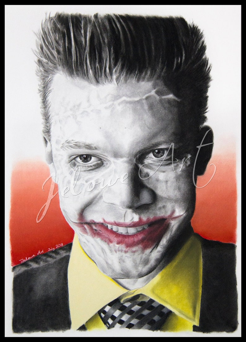 Jerome Valeska Cameron Monaghan Gotham Art Print