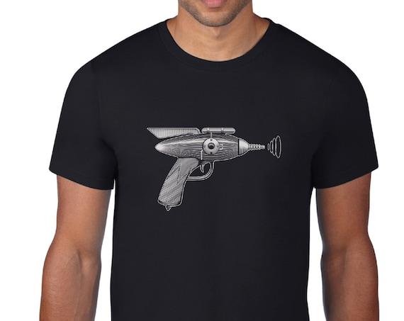 Hand Printed Ray Gun T-shirt