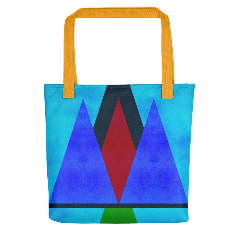 Abstract Triangles Stylish Tote Bag