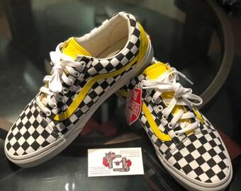 599b2963daa132 Handmade mens checker shoes