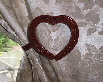 One Pair Horseshoe Heart Curtain Holdback