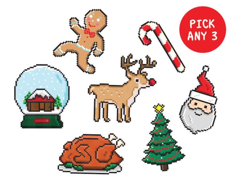 Christmas Tree Tattoo Small.Pick Any 3 Christmas Tattoos Small Gift Ideas Face Body Tattoo