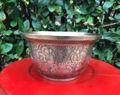 Antique, 19th Century Chinese Xuande bronze jardiniere or incense censer.