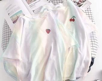 3f7145e89bc3e Pastel galaxy shirt | Etsy