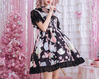 b7238ce6672 Sweet Lolita JSK Dress - Alice s Mad Tea Party Inspired Yume Kawaii Dress
