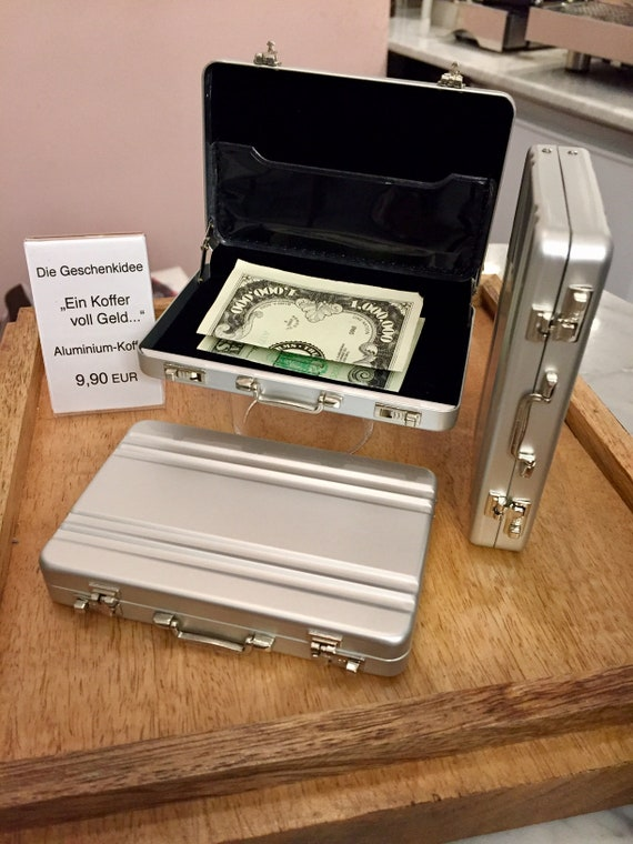 A Suitcase Full Of Money Give Away Money With Engraving Money Gifts Piggy Bank Piggy Bank