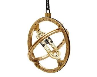 Bags Sundial Brass Antique Pocket Sundial