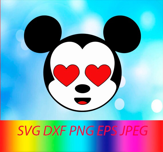 Svg Minnie Mouse Face Vector Layered Cut File Silhouette Cameo Cricut Design Template Stencil Vinyl Decal Tshirt Heat Transfer Iron On
