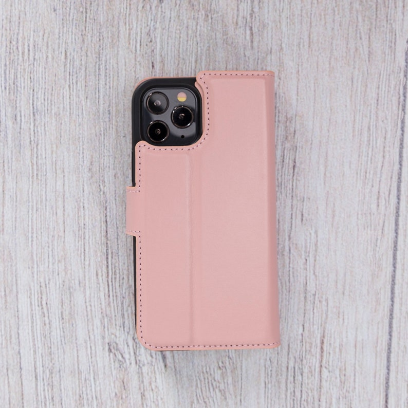 iPhone 12 Mini Detachable Cover  PINK Best Phone Case for iPhone 12 iPhone 12 Pro Personalized Case iPhone 12 Pro Max Leather Wallet