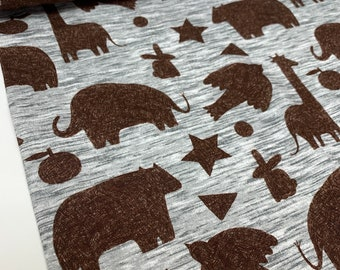 Swafing Sweat French Terry Mini Forest Grey Animals