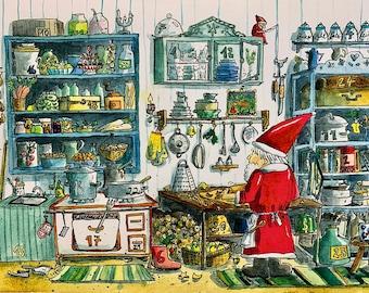 Advent calendar Christmas kitchen
