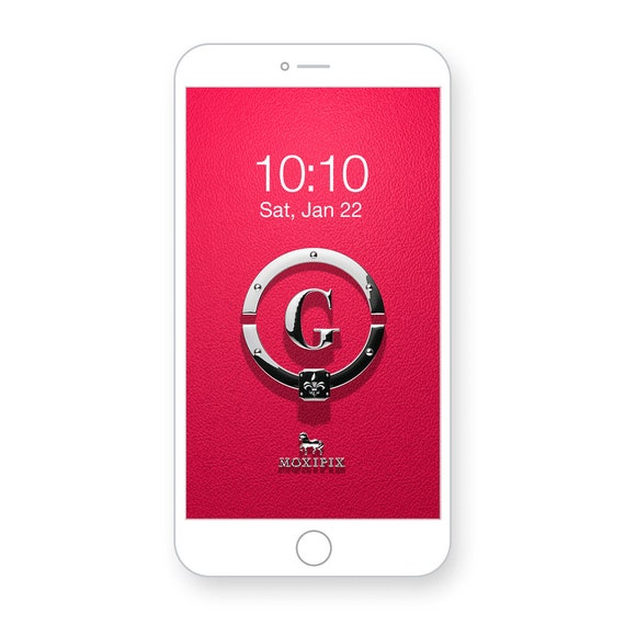 Iphone Wallpaper Lock Screen Ruby Red Leather Silver Letter Splash Screen Fancy Cell Phone Wallpaper Phone Lock Screen