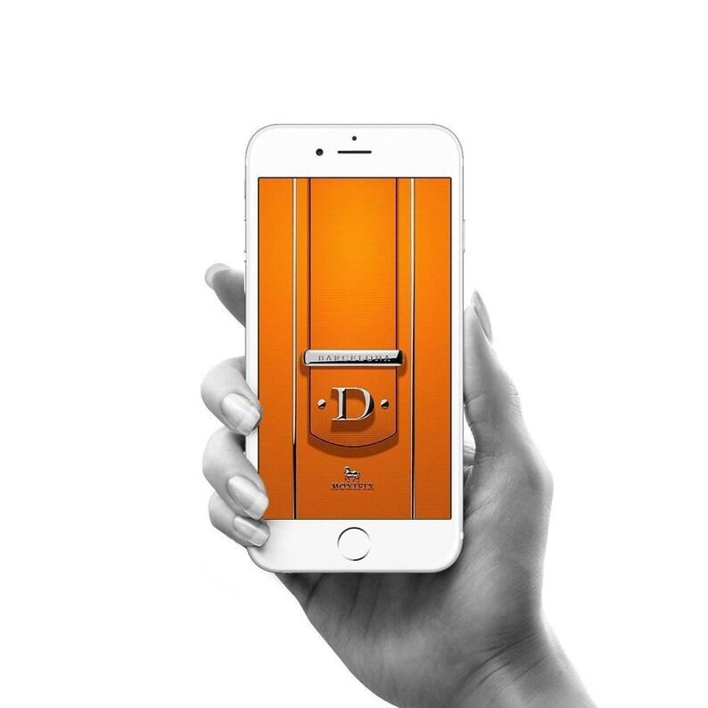 Custom iPhone Wallpaper, Custom Android Lock Screen, Barcelona Orange  Leather, Custom Text Splash Screen, Customized phone lock screen