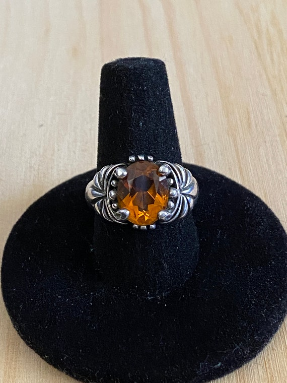 Sterling Silver Citrine Ring, Kabana Jewelry, Hall