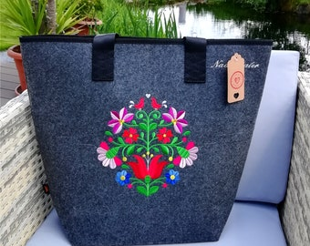 Shopper folklore personalized embroidered folklore > sweet< bag