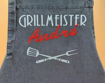 Personalized grill apron / cooking apron / Latzschürze for men