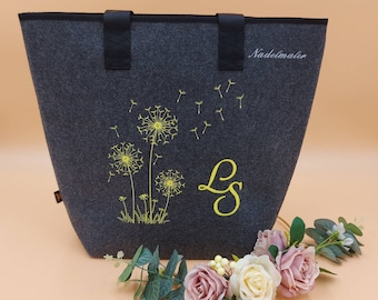 Shopper Dandelion personalized embroidered bag