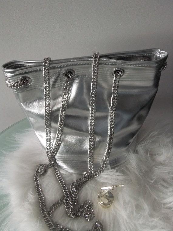 JP Gaultier silver bag