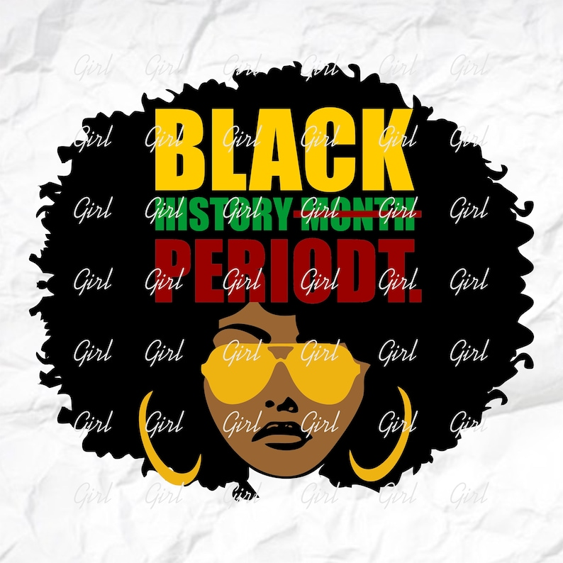 Afro Girl Svg For Silhouette Black History Month SVG Afro Lady Svg Black Woman For Cricut Sublimation png Afro Woman SVG
