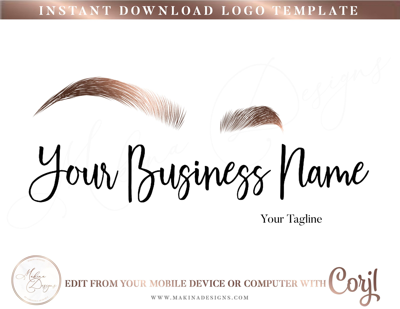 BROWS LOGO DESIGN, Eyebrows Logo, Logo design, Logo, Premade logo, Logo  Template, Microblading, beauty salon, makeup, Tattoo
