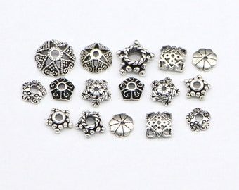 9.5mm x 12mm Pewter Bead Caps Lead-Safe! 10