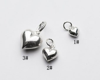 30 Gold plated 9x7mm Puffy Heart Charms Jewellery Making