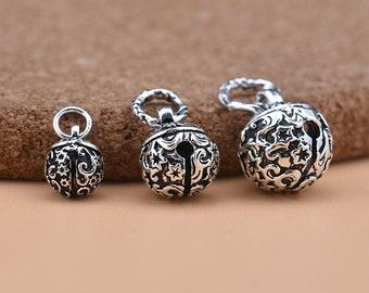 10pcs Tibetan Silver Fashion Jingle Bells Pendants Charms 16mm Handmade Jewelry Making Earring Bracelet Necklace Keychain Diy Home & Garden