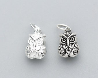 Ancient Silver Owl Earrings Adorable Small Charms